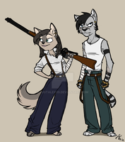 Fenix and Mauser by JustAlex09