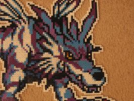 Garurumon head Bead by sazmullium