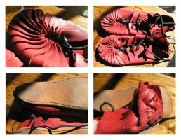 Red Leather Ghillies by Demara
