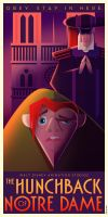 The Hunchback of Notre Dame Art Deco poster by Chernin