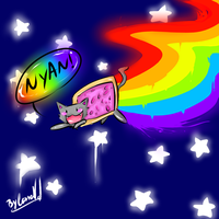 Nyan Cat by Ancient-Moonlight