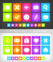 Fluo Blog Icons by Ransie3
