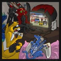 Gamers by Key-Feathers