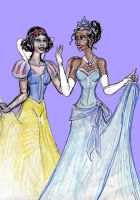 Snow White and Tiana by theaven