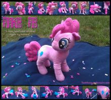 Pinkie Pie Plush with Party Cannon by sockfuzzy