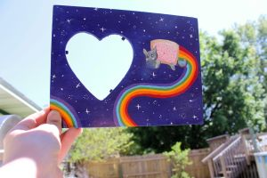 Nyan Cat Heart Frame by BeeZee-Art