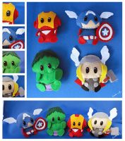 Avengers dolls group shot by I-Am-Bleu