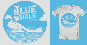 Blue Whale T-shirt by coffeestained