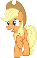 Applejack shy grin vector by Pisonisy