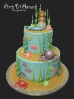 Mermaid Cake by ArteDiAmore