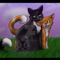 Ravenpaw And Fuzzypaw by InvaderTigerstar
