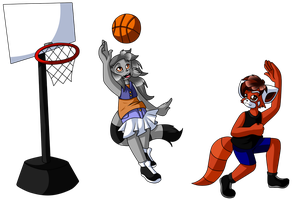 C: Basketball by CharCharCommish