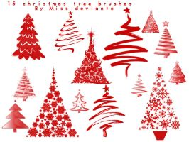 Christmas Tree Brushes by Miss-deviantE