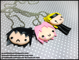 Team Seven Necklaces by GrandmaThunderpants