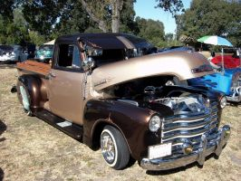 1951 Chevrolet Truck - with fender skirts by RoadTripDog