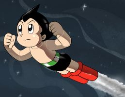 Astro Boy for CyberneticHero by AtomicTiki