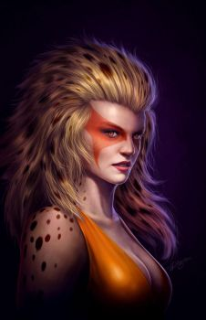 Cheetara - Fan art by Deligaris