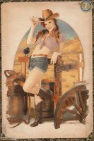 Cowgirl Pinup #1 by warbirdphotographer