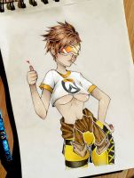 Tracer from Overwatch by SHANTA-art