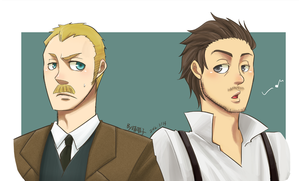 Sherlock Holmes and Watson_colored by aulauly7