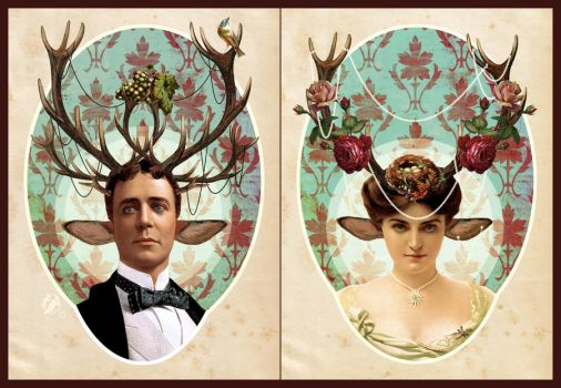 Royal victorian Faun couple by DeerDandy