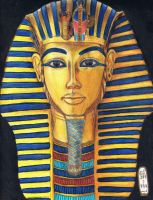 The Gold Mask of Tutankhamun by MyWorld1