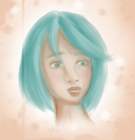 Blue Haired Girl by ZariaLaRue