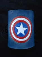 Captain America Leather Cuff by RebelATS