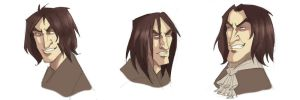 Snape portraits by kyla79