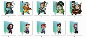 Avatar and Legend of Korra Folder Icons by Ginokami6