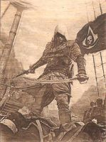 Assassin's Creed 4 Black Flag  WoodPic by WoodBoxEdition