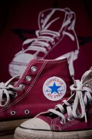 My Cranberry Chucks by Nikonoclaste
