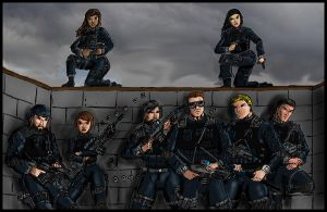 FIRE Team Alpha circa 2105 by Andared