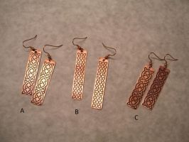 Available earrings by creativeetching