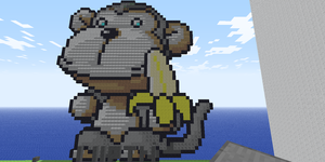 Minecraft Pixelart Monkey! by fariz66