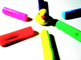 Highlighters and Duck by A-McQ