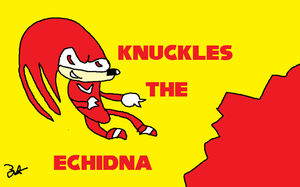 Knuckles The Echidna by zack-pack