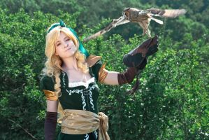 Castlevania - Maria with Owl by adelhaid