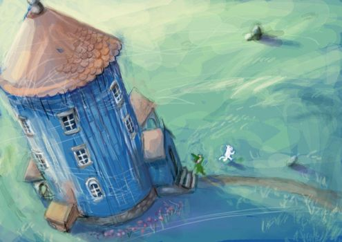 Moomin Concept Art 1 by FabienMater
