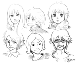 Sketches faces 3 (Digital) by Angy89