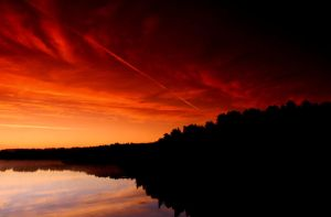 red sky by KariLiimatainen