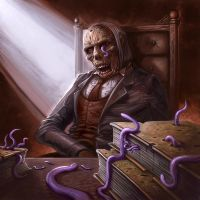 Cthulhu Tales - Worm Eaten Tomes by ScottPurdy