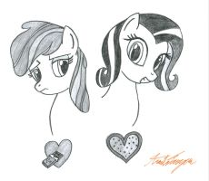 Chocolata and Heart Stucker by BoxedSurprise
