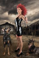 Marcella with Doggies! by RichardKnightly