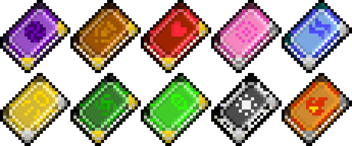 MSFH Spellbook Sprites by Nero-The-Lime