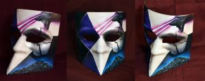 Far Cry 3 Blood Dragon Mask (Bauta) by FidgetyBudgie