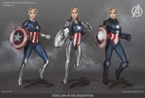 Jennifer Lawrence Captain America Concept by JesusAConde