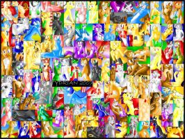 Wall of Girls by tydrian