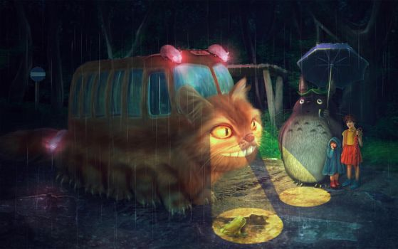 The Catbus Stop by PerlaMarina