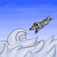 High Dive Into Frozen Waves by Leopra